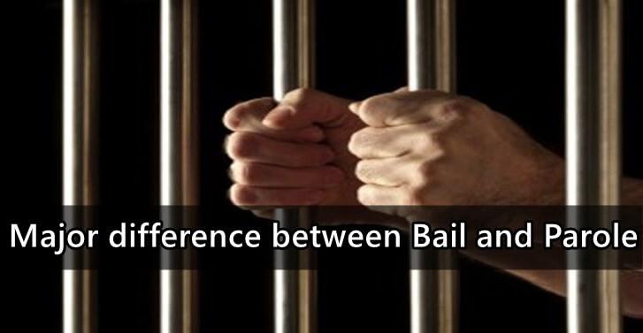 Major difference between Bail and Parole