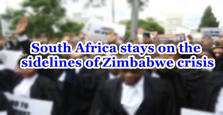 South Africa stays on the sidelines of Zimbabwe�crisis