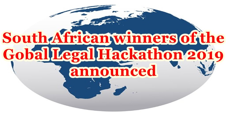 South African winners of the Global Legal Hackathon 2019 announced