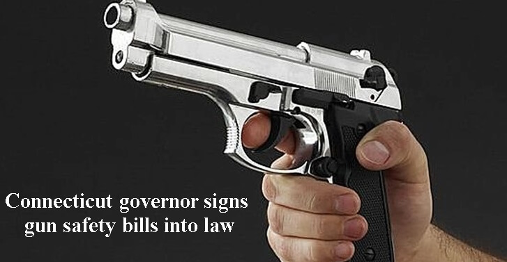 Connecticut governor signs gun safety bills into law