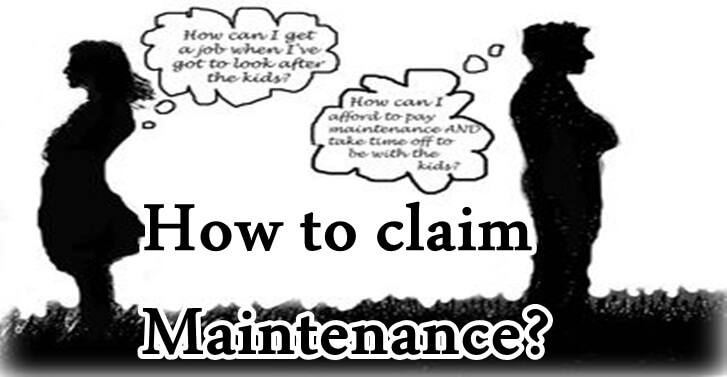 How to claim Maintenance?