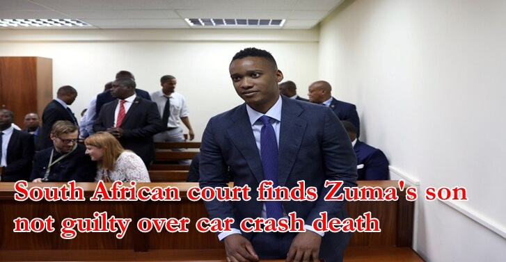 South African court finds Zuma's son not guilty over car crash death