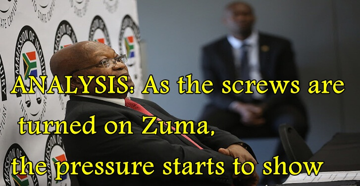 ANALYSIS: As the screws are turned on Zuma, the pressure starts to show