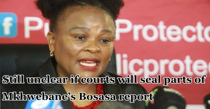 Still unclear if courts will seal parts of Mkhwebane's Bosasa report