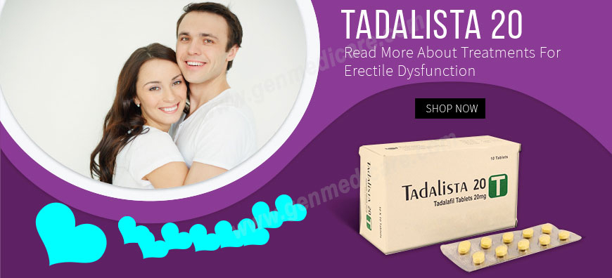 Buy Tadalista 20 Online | GenMedicare Best online Drugstore