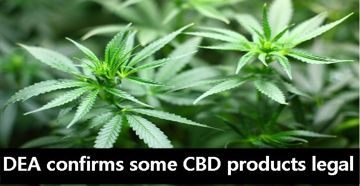 DEA confirms some CBD products legal