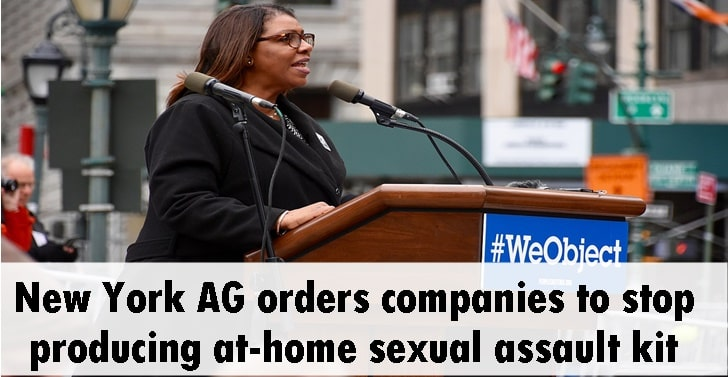 New York AG orders companies to stop producing at-home sexual assault kit