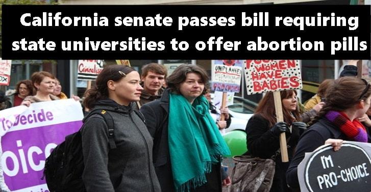 California senate passes bill requiring state universities to offer abortion pills