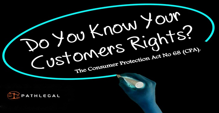 The Consumer Protection Act No 68