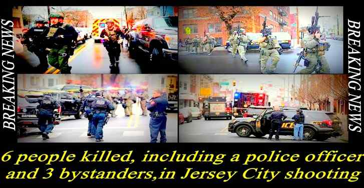 6 people killed, including a police officer and 3 bystanders, in Jersey City shooting