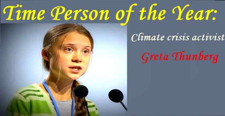 Time Person of the Year: Climate crisis activist Greta Thunberg