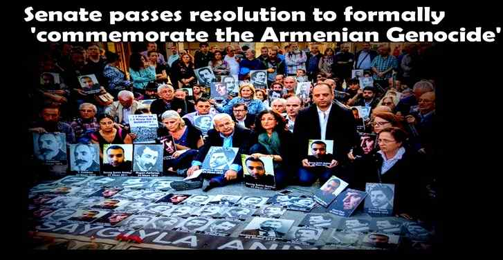 Senate passes resolution to formally 'commemorate the Armenian Genocide'