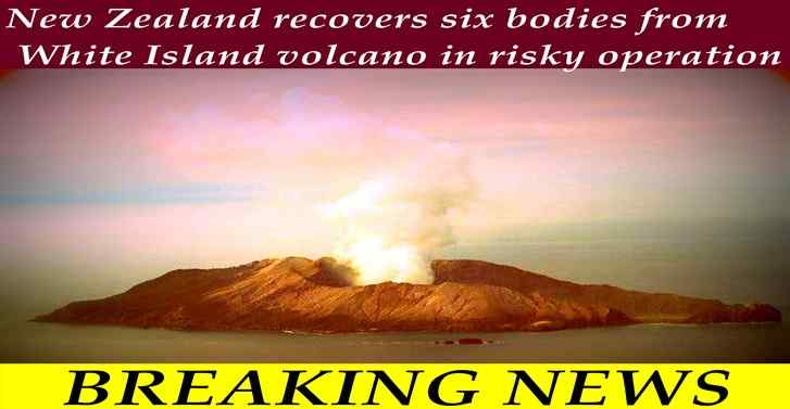 New Zealand recovers six bodies from White Island volcano in risky operation