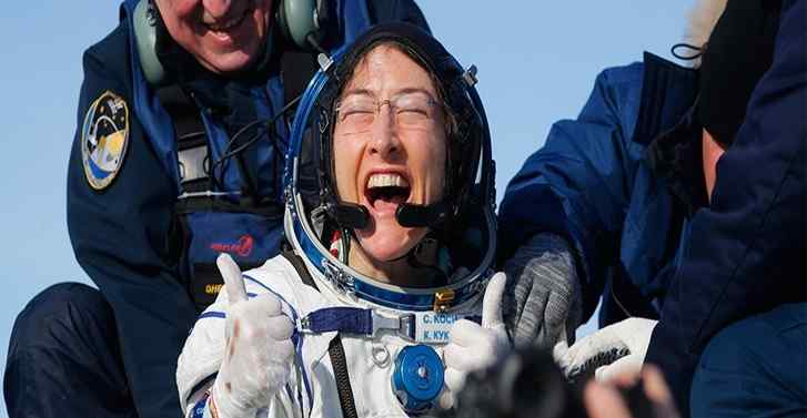 Nasa astronaut Christina Koch returns to Earth after record mission